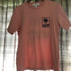 "H&M Size Small Peach ""Hawaii"" T-Shirt"